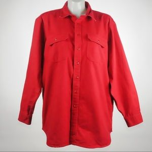Woolrich - Red Long Sleeve Buttonup Shirt - Sz XXL
